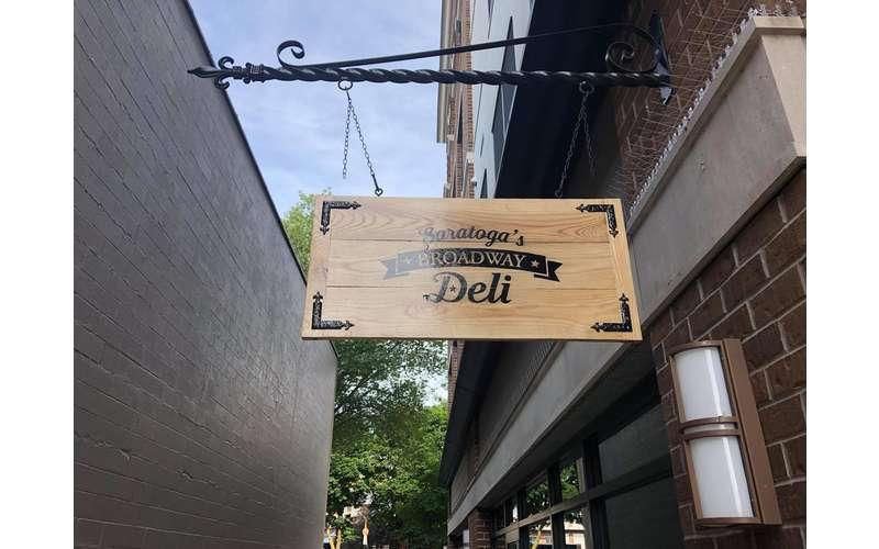 Saratoga's Broadway Deli sign