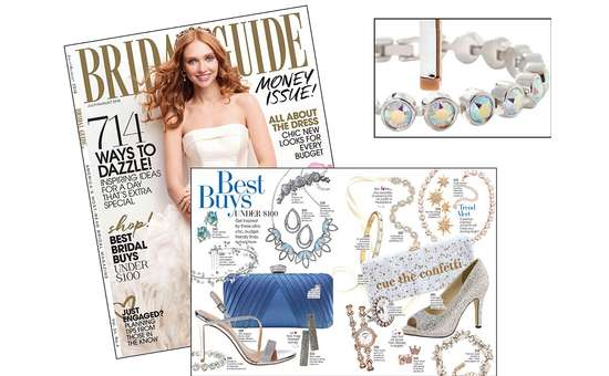 bridal magazine with crystals