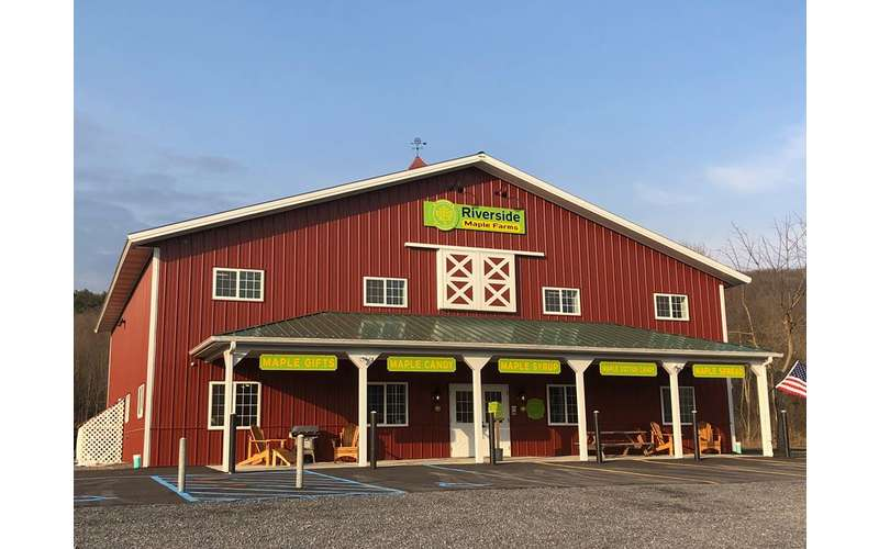 the outside of maple farm