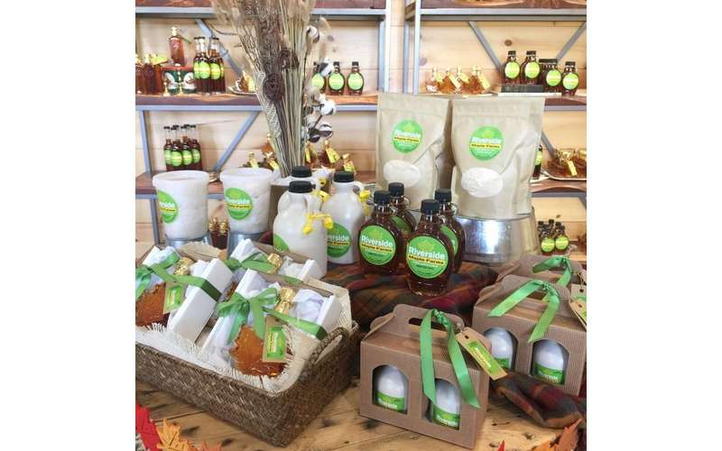 a display of maple products