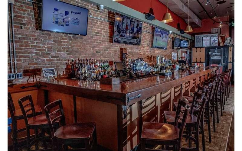 large bar area