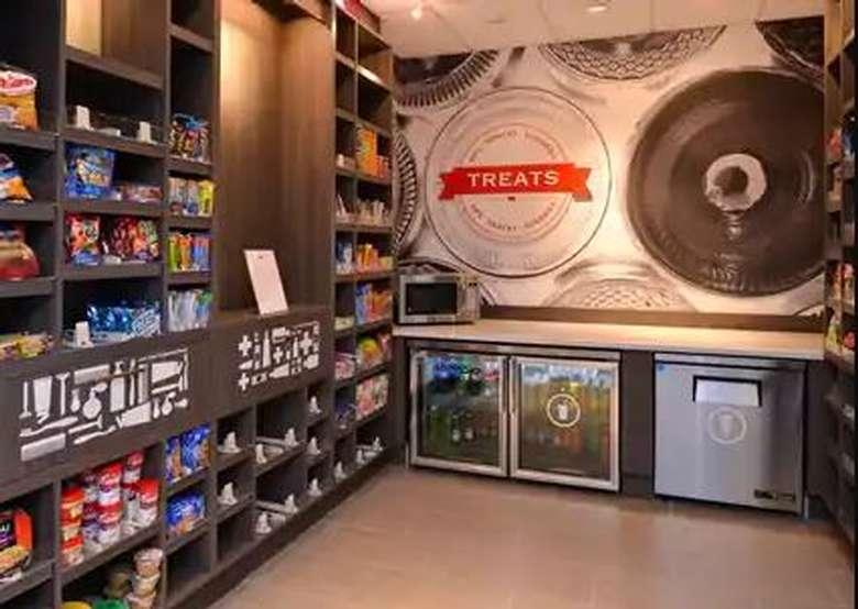 shelves full of snacks