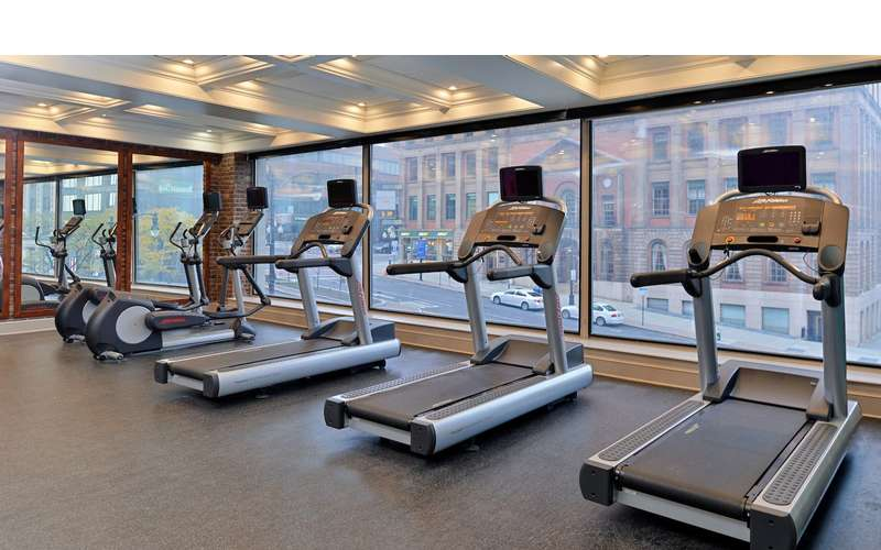 fitness center at Fairfield Inn and Suites