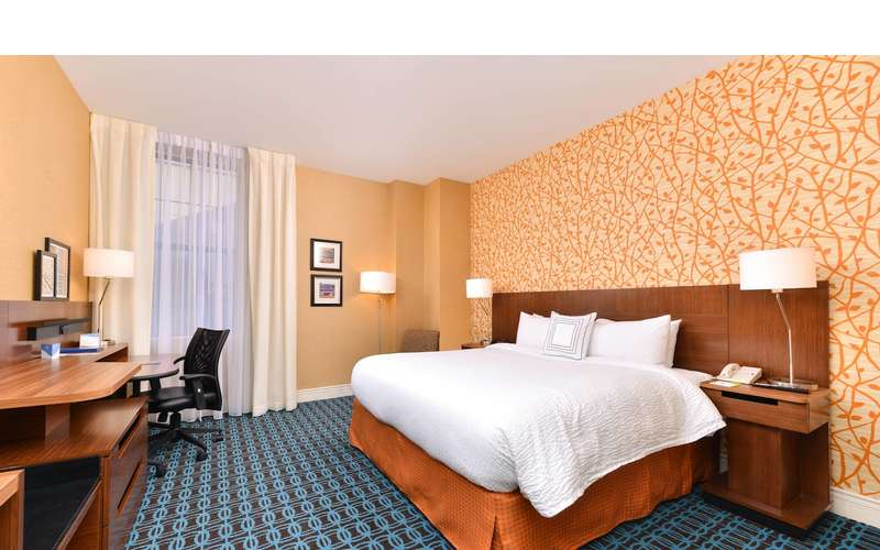 bedroom with king bed at Fairfield Inn and Suites