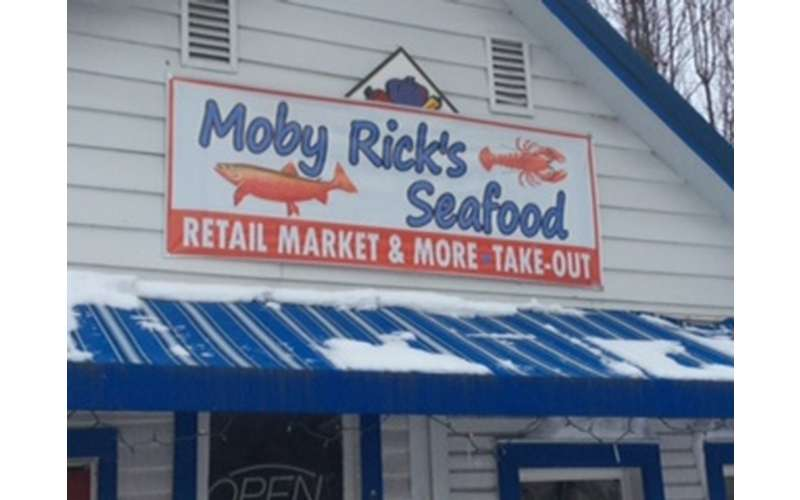 the exterior of moby rick's seafood