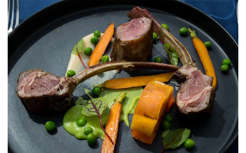 """Lamb """"Peas & Carrots"""""""