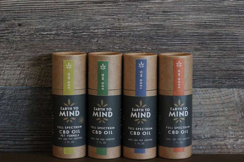 Earth To Mind, True Organic Full Spectrum CBD Tinctures