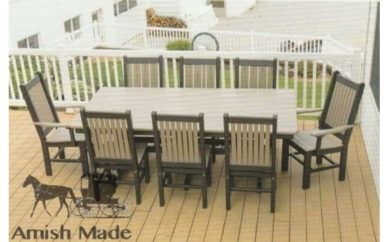 a full outdoor dining set