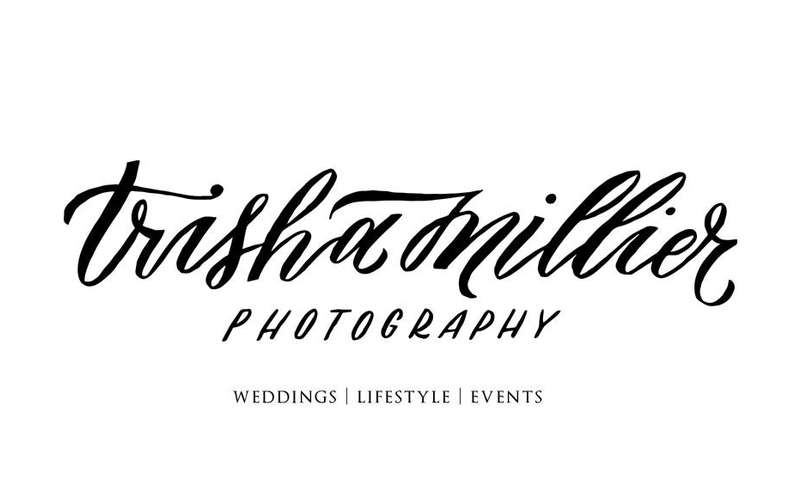the logo for trisha millier photography