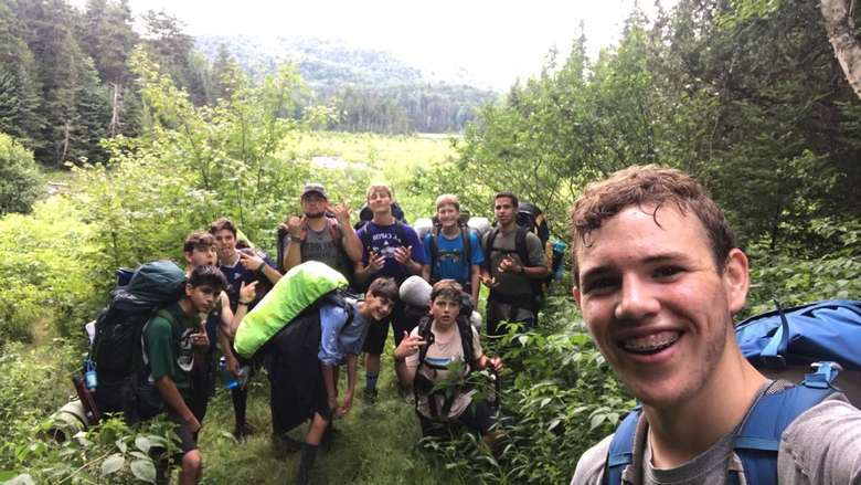 campers taking a selfie