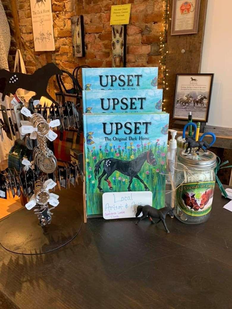 Upset books and merchandise