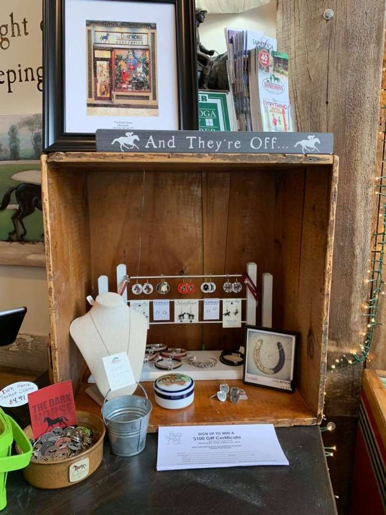 merchandise on display