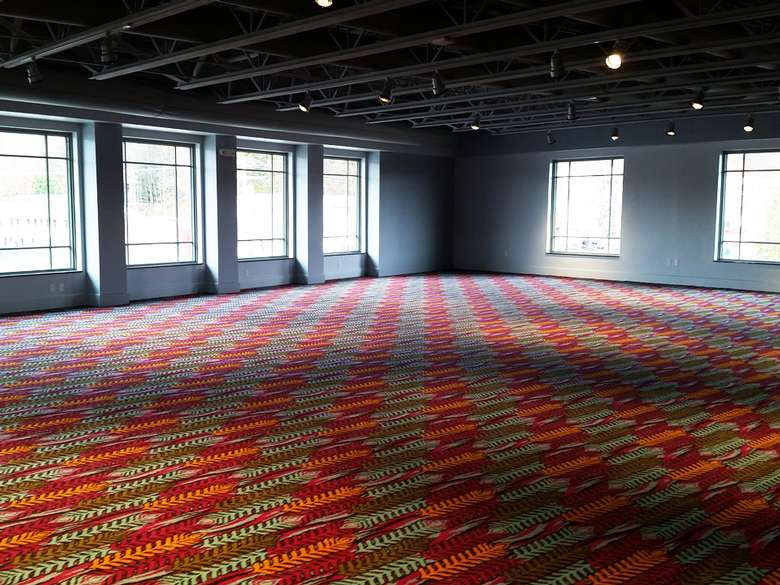 a large open event room