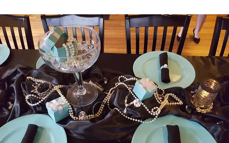 table set for a party