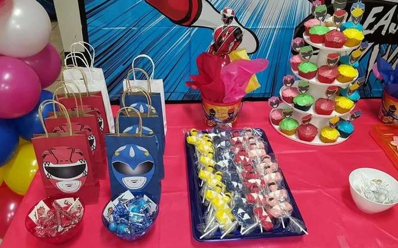 party spread, Power Rangers themed