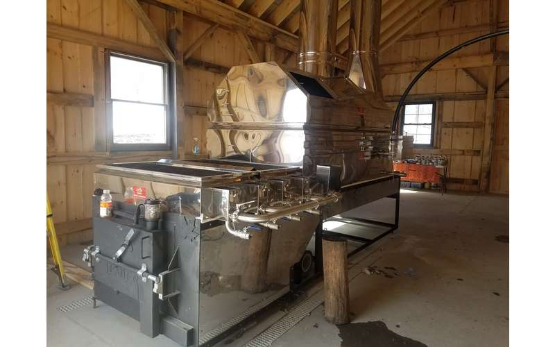 a maple sugaring machine
