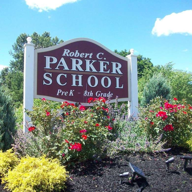 the sign for robert c. parker school