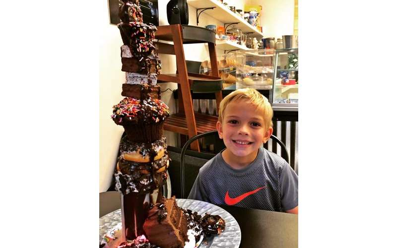boy with freakshake