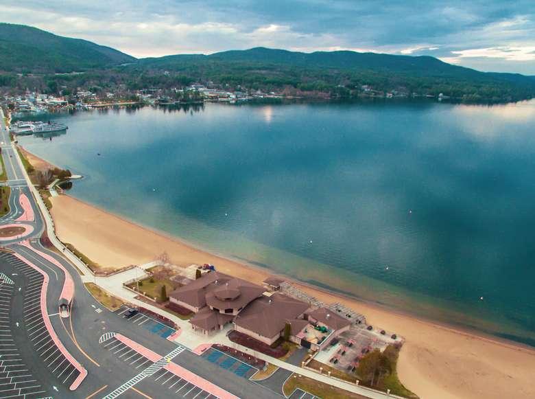 aerial view of million dollar beach