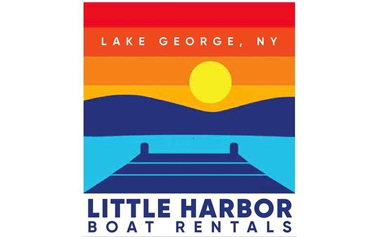 the logo for little harbor boat rentals