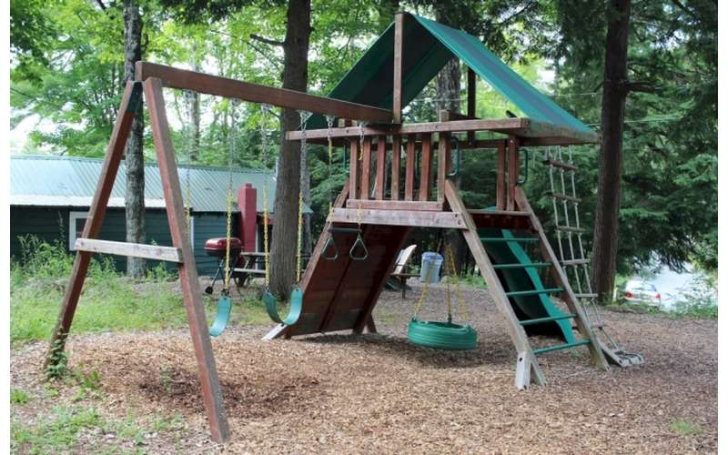 a playground area