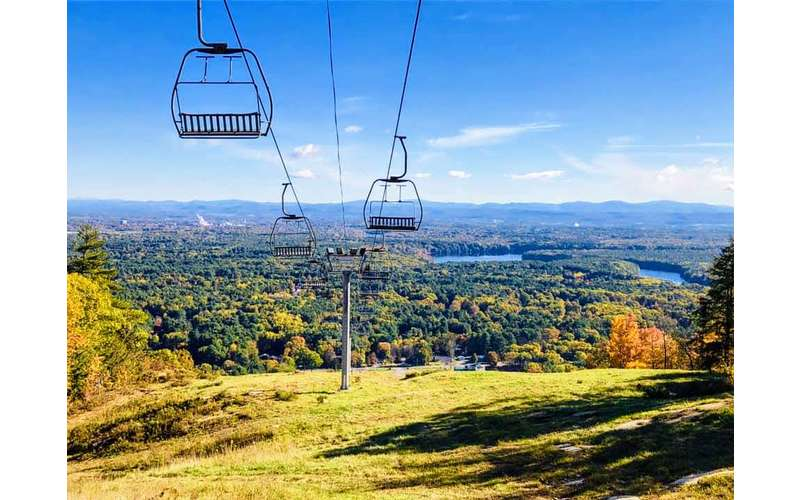 scenic view with ski lifts