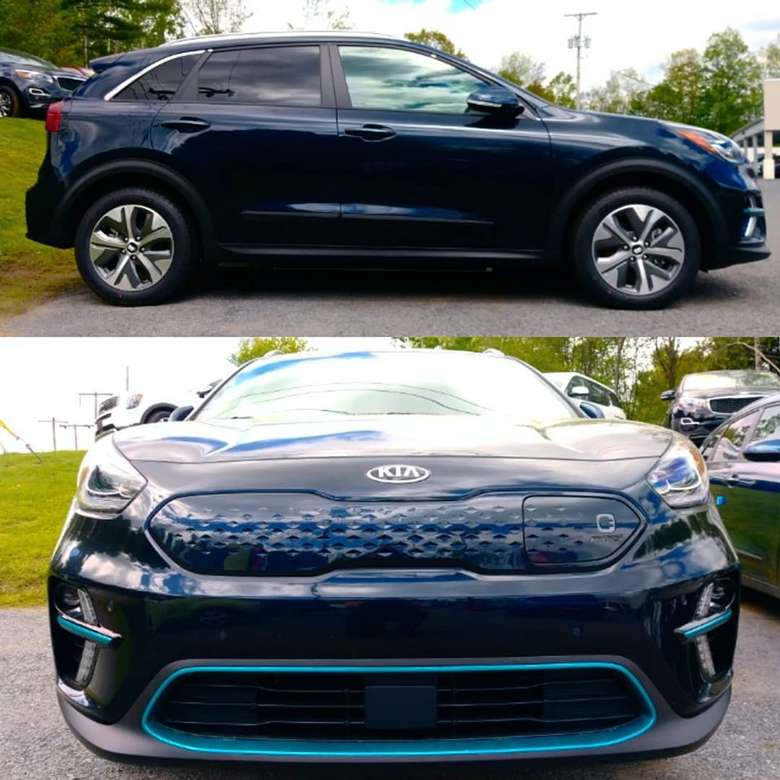 side view and front view of a kia car
