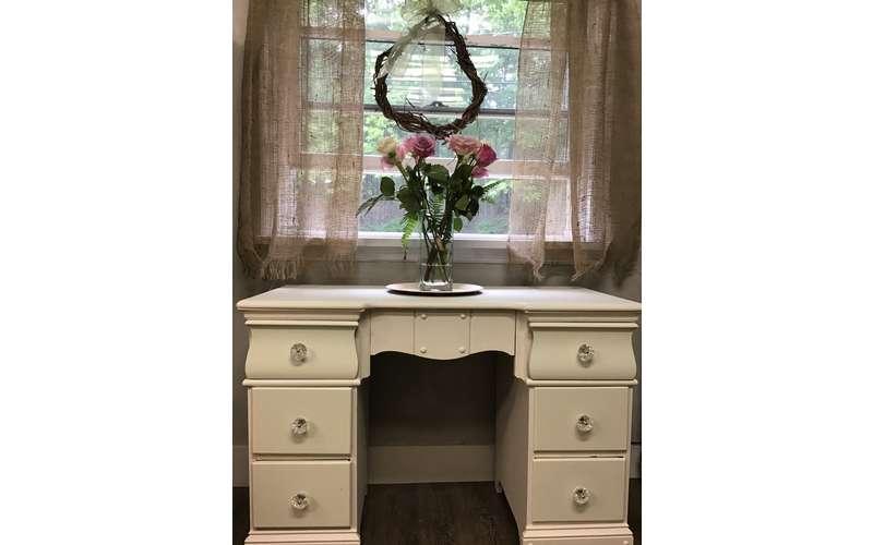Ivory desk or vanity $125