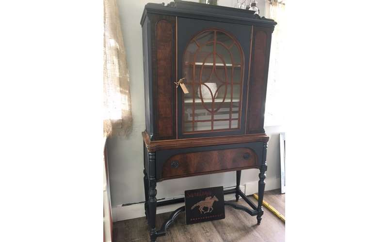 Updated antique china cabinet