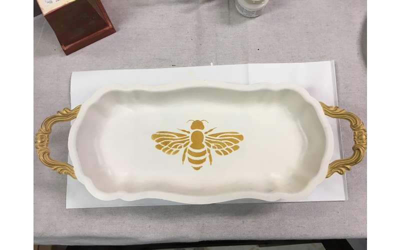 repurposed serving tray-beeautiful