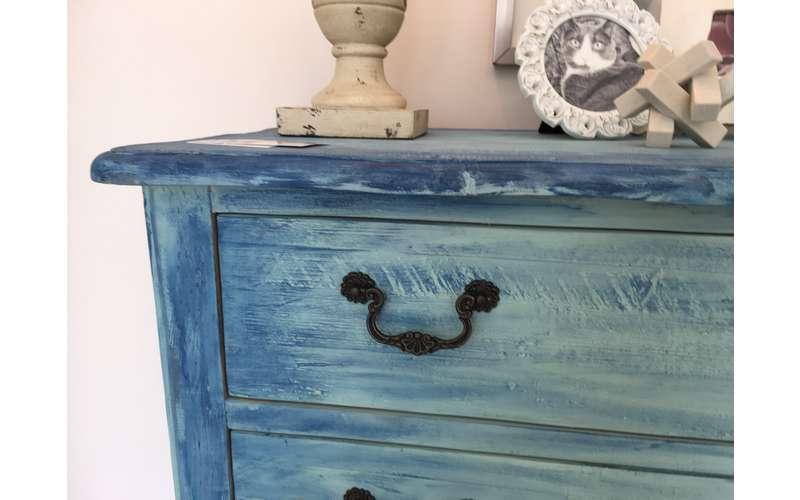 custom layered 'denim' dresser