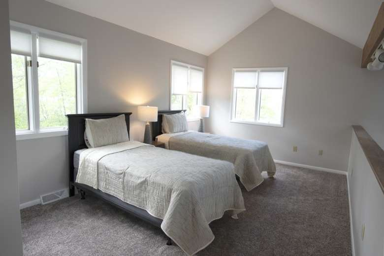 two beds in bedroom
