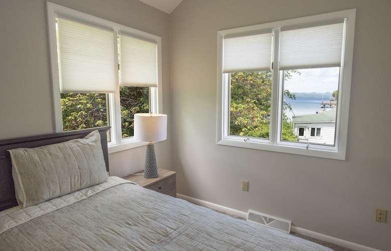 bed frame and bedroom dresser