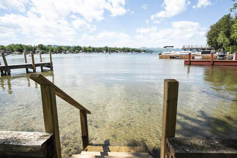 dockside into lake