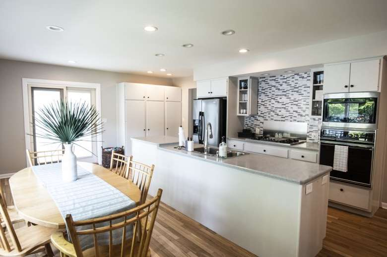 kitchen with sink countertop
