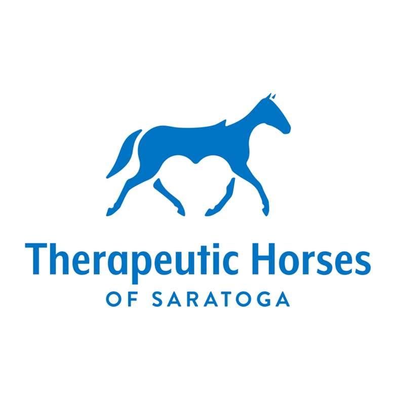 logo for therapeutic horses of saratoga