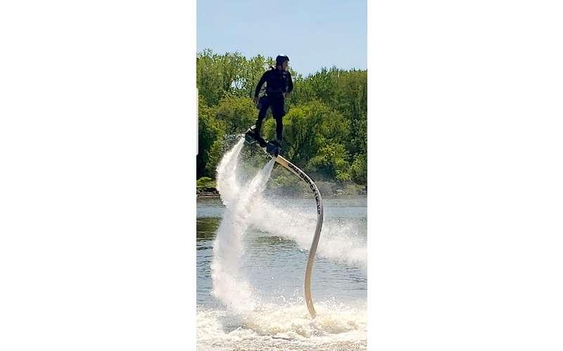 man in hydroflight