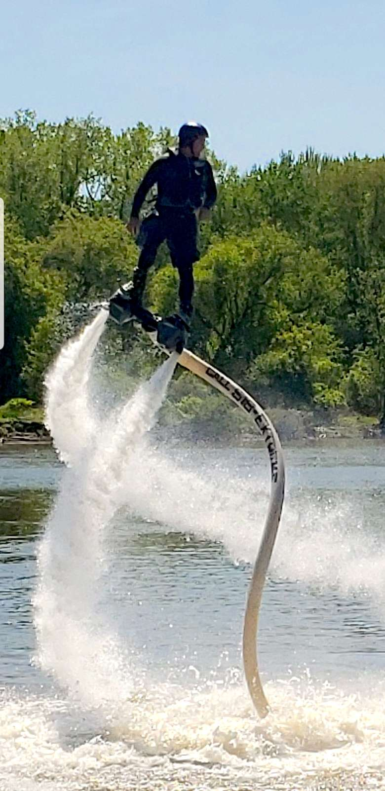 man in hydroflight