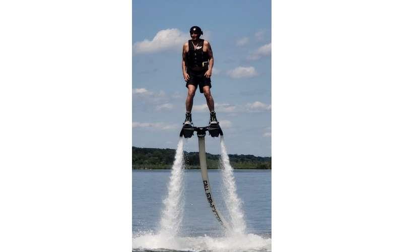 man in hydro flight