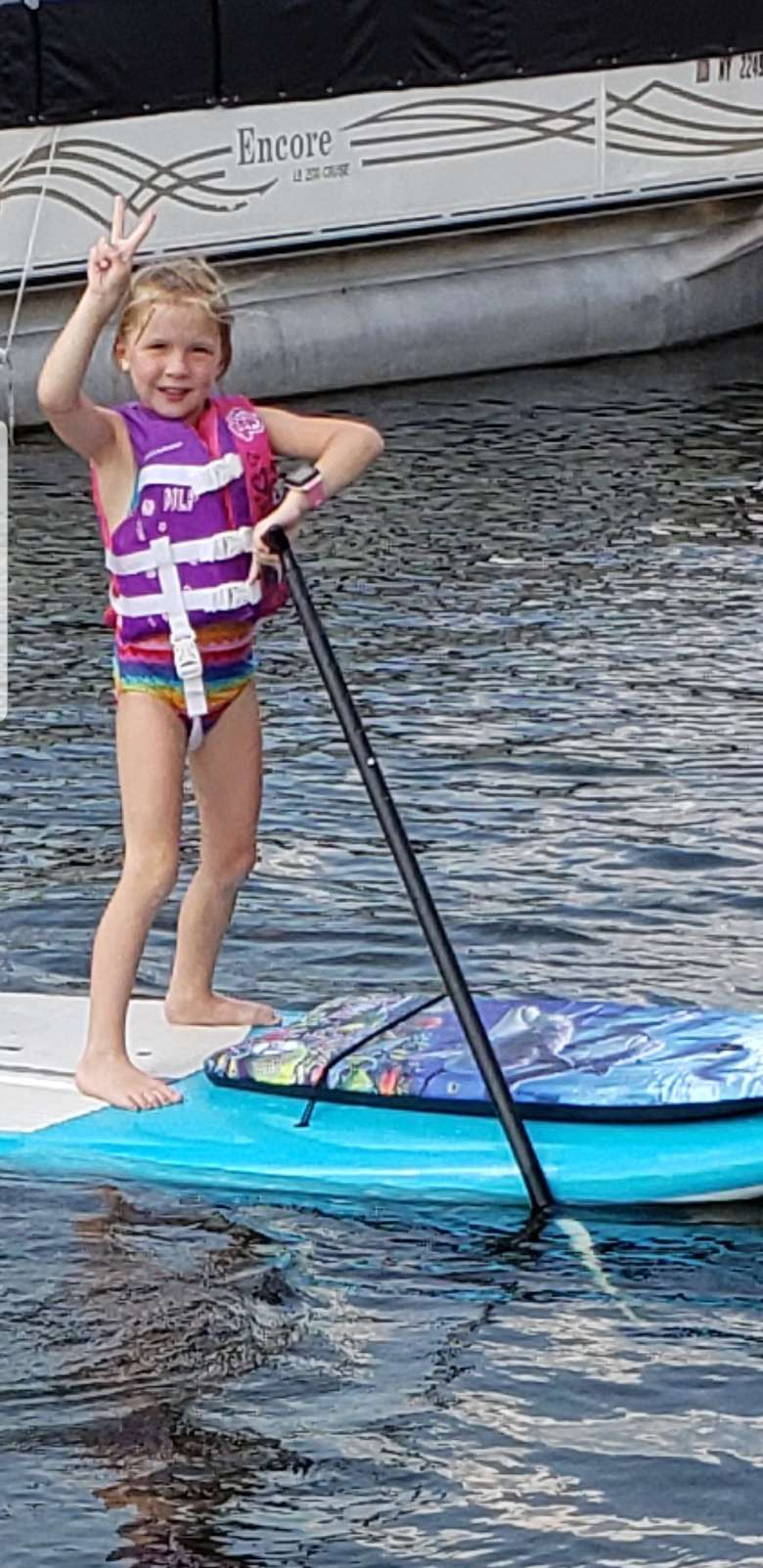 girl on a paddle board