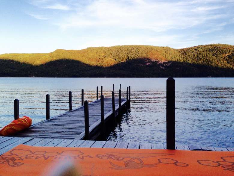 boat dock on a lake