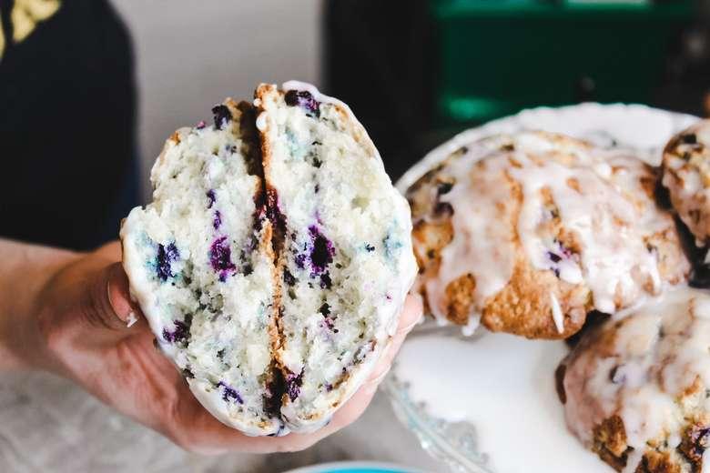 scone broken in half