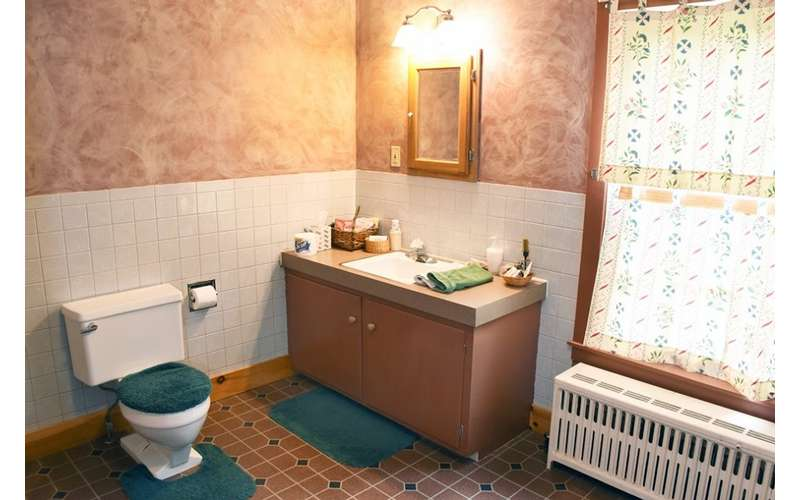 sink and toilet in bathroom