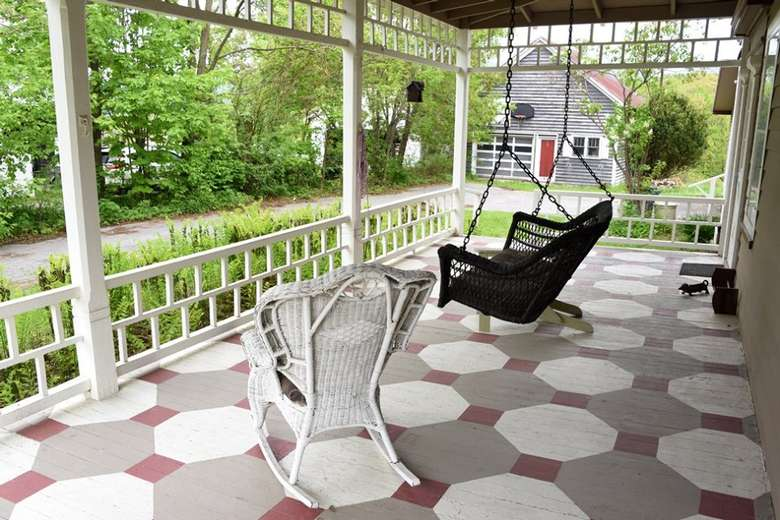 porch with patio furniture