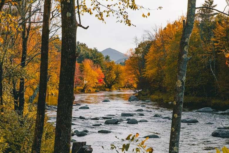 River and mountain views warners camp cabin rental lake placid keene