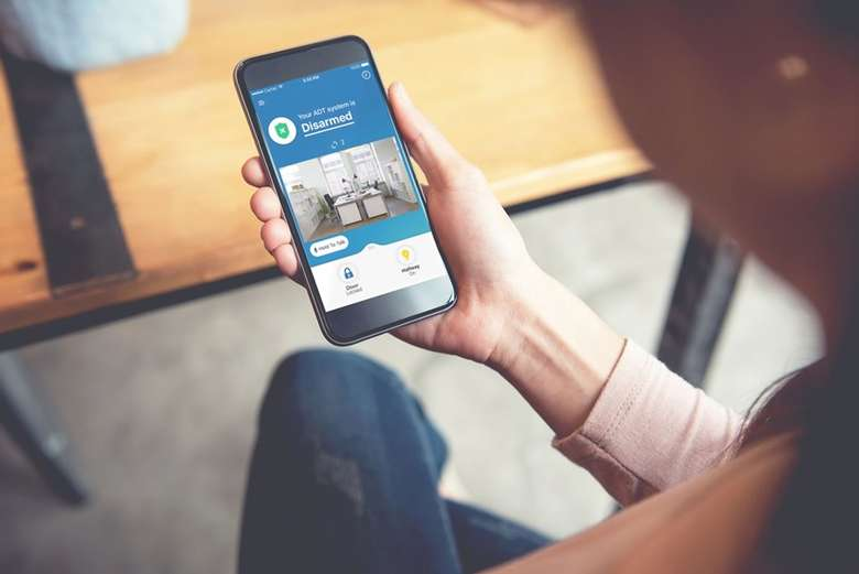 home security program on phone