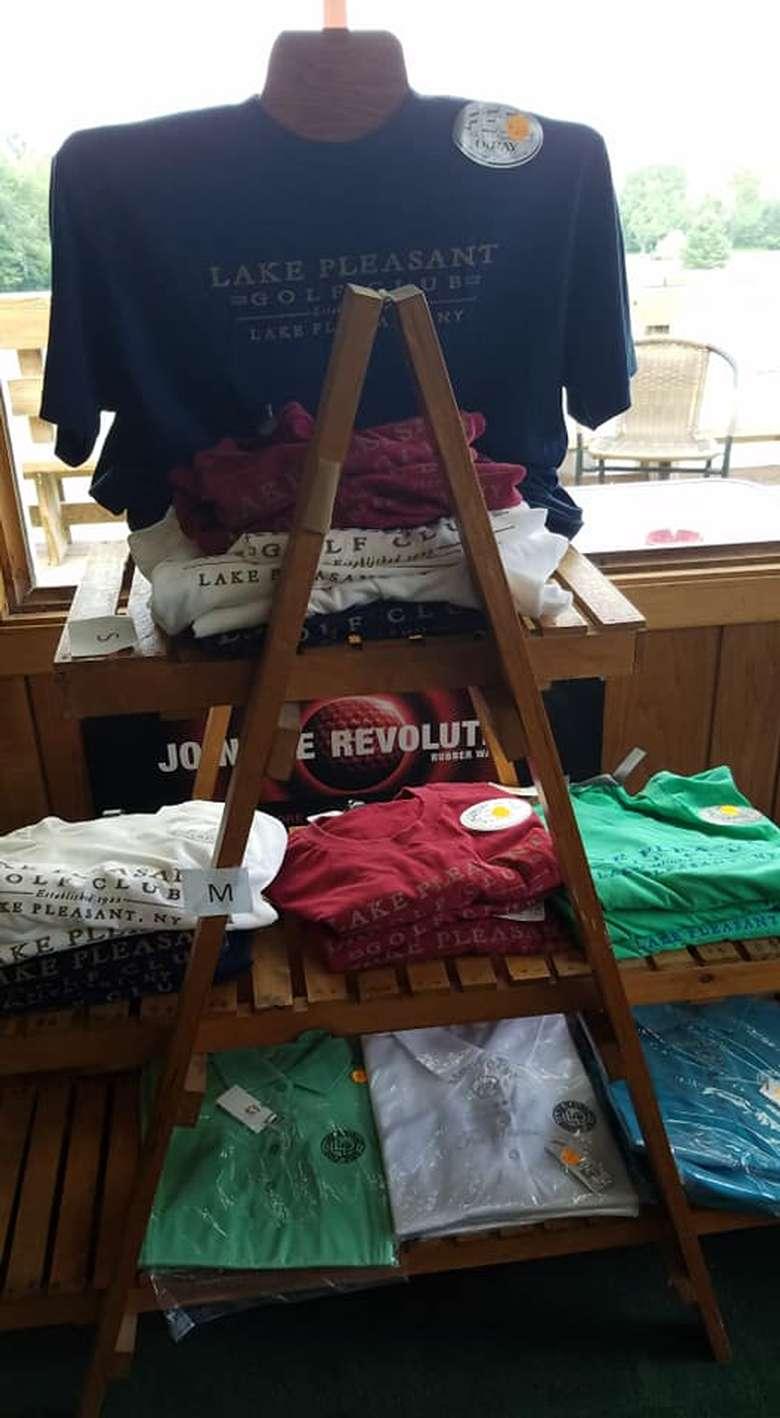 shirts on display