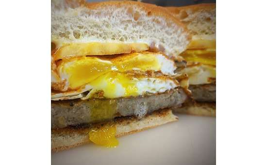The All Day Breakfast Sandwich, is not surprisingly offered all day