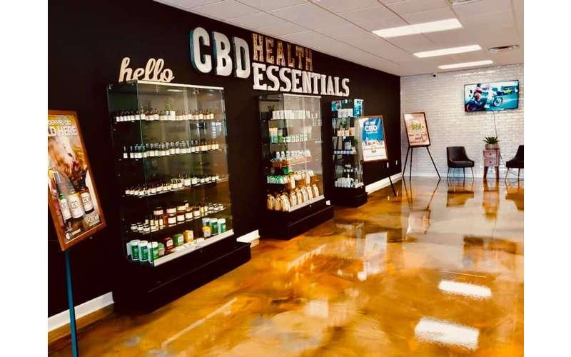 cbd health essentials shelves