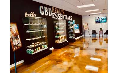 cbd health essentials shelves